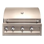 Artisan 32 Inch Propane Gas Grill w/Lights and Rotisserie