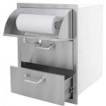 BBQ Island Triple Storage Drawer with Paper Towel Dispenser - 260 Series