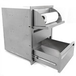 BBQ Island 350 - 17x24 Triple  Access Drawer With Paper Towel Dispenser