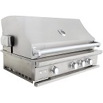 Caliber CrossFlame Pro 42 Inch Natural Gas Grill with Sear Burner and Rotisserie