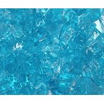 Caribbean Blue Fire Glass 1/4 Inch - 10 lbs