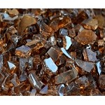 Copper Reflective Fire Glass 1/4 Inch - 10lbs