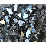 Gunmetal Reflective Fire Glass 1/4 Inch - 10 lbs