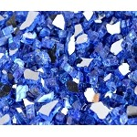 Sapphire Reflective Fire Glass 1/2 Inch  - 10lbs