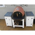 Forno de Pizza Oven Terra Cotta Series Closed Cart