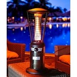 Lava Heat Italia Ember Mini Tabletop Propane Patio Heater - Gun Metal