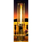 Lava Heat Italia Opus Natural Gas Patio Heater - Stainless Steel
