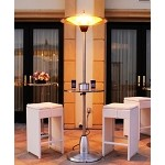 Lava Heat Italia Pub Table Deluxe Electric Heater - Stainless Steel