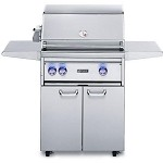 Lynx 27 Inch Professional Propane Gas Grill w/ Rotisserie on Cart