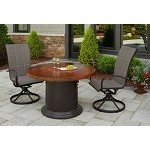 "Colonial 48"" Fire Pit Table w/Artisan Top, Colonial Base"