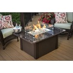Grand Stone Fire Pit Table -  Brown Metal Base / British Granite Top