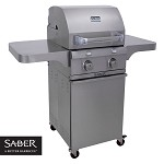 Saber 330 Propane Stainless Grill - On Cart