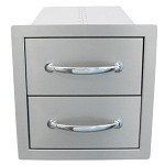 Sunstone 14 Inch Flush Double Access Drawer