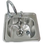 Sunstone Drop In Sink w/Cold & Hot Water Faucet