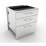 Sunstone 30 Inch Large Triple Drawer Base Cabinet