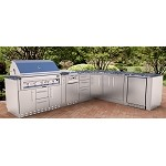 Sunstone Marquee L Shape Cabinet Island w/Grill & Components