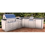 Sunstone Victory V-Shape Cabinet Island w/Grill & Components