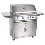 Sure Flame 32 Inch Elite 4 Burner Propane Grill - On Cart