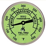 Tel-Tru 3 Inch Glow Dial Barbecue Thermometer BQ300