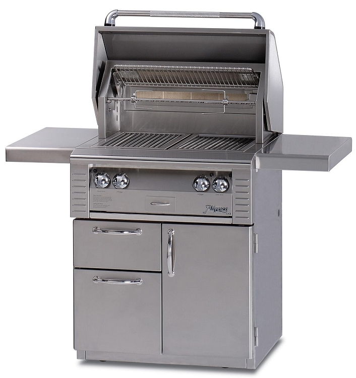 Alfresco 30 Inch Deluxe Cart for ALXE Grills