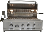 Sole 30 Inch Luxury Grill with Lights and Rotisserie - LP