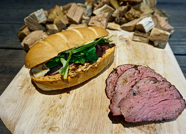finished tri tip sandwiches