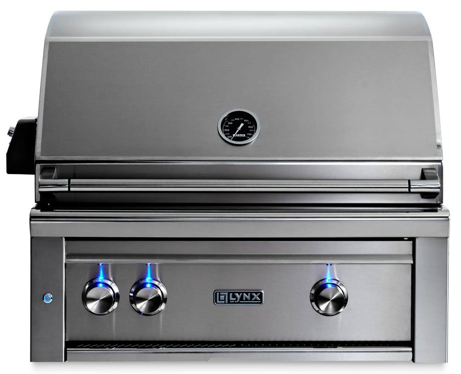 Lynx 30 Inch Professional All Trident Propane Gas Grill w/ Rotisserie