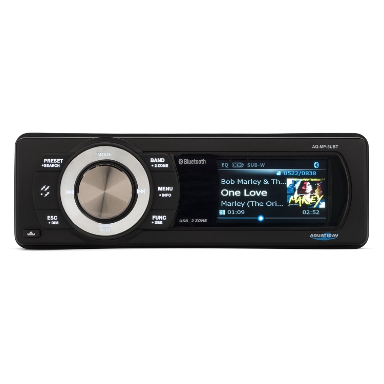Aquatic AV Bluetooth & USB Waterproof Marine Stereo