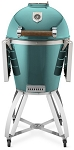 Caliber Thermashell Pro Turquoise Charcoal Grill w/ Wood Handle