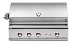 Delta Heat 38 Inch Natural Gas Grill with Infrared Rotisserie and Sear Zone