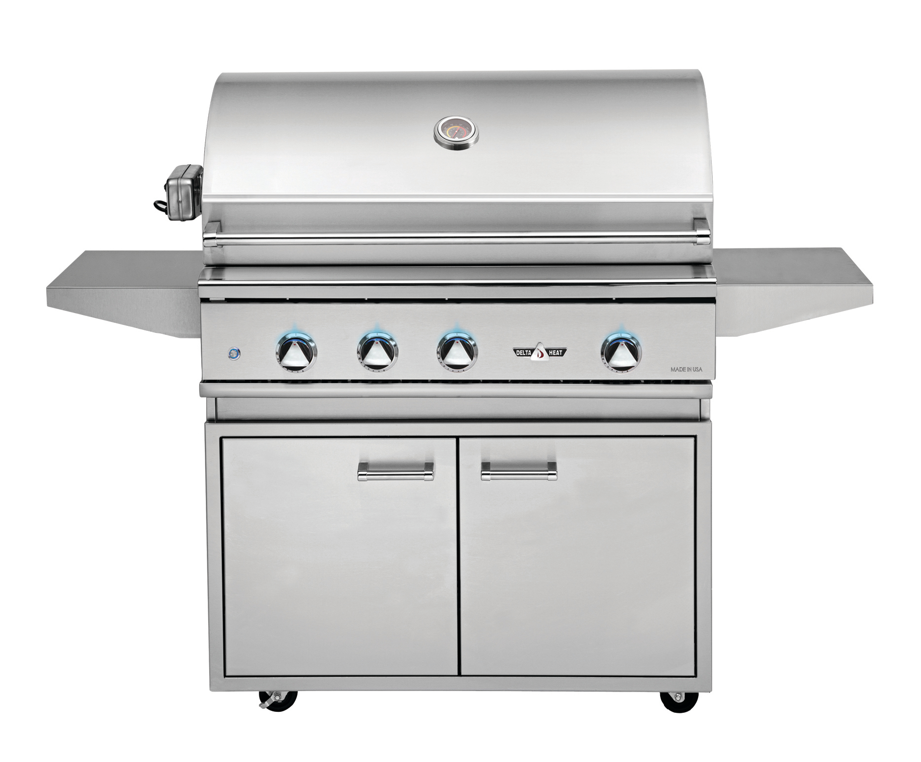 Delta Heat 38 Inch Natural Gas Grill On Cart With Interior