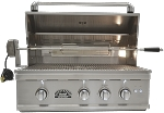 Sole 32 Inch Grill with Lights and Rotisserie - LP