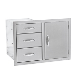 Summerset 3 Drawer with Door Combo