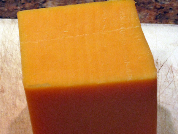 1 lb block of sharp cheddar cheese