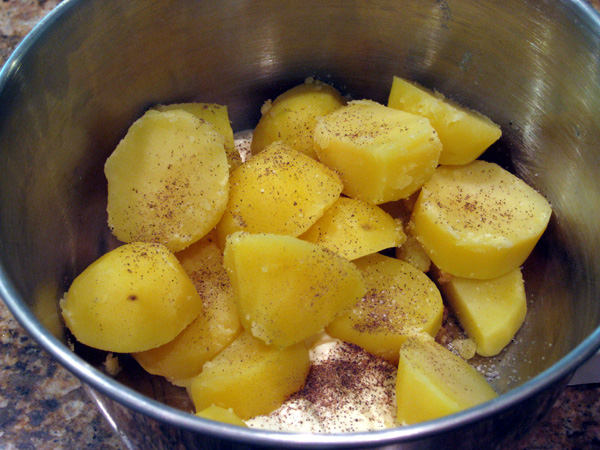 Boiled Pototoes Added To Other Ingredients