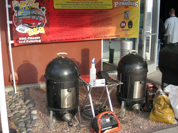 Two 18 inch WSMs and a GMG pellet smoker