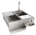 BBQ Island 30 Inch Cocktail Center w/Sink and Faucet