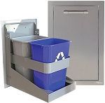 Alfresco 15-inch Single Bin Trash Center Drawer