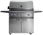 Lynx 36 Inch Professional Propane Gas Grill w/Trident Burner and Rotisserie on Cart