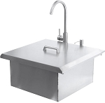 BBQ Island - 350H Series Premium 21-Inch Drop In Sink