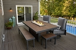 Kenwood Linear Dining Fire Table
