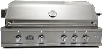 Sole 42 Inch Luxury Natural Gas Grill with Lights and Rotisserie