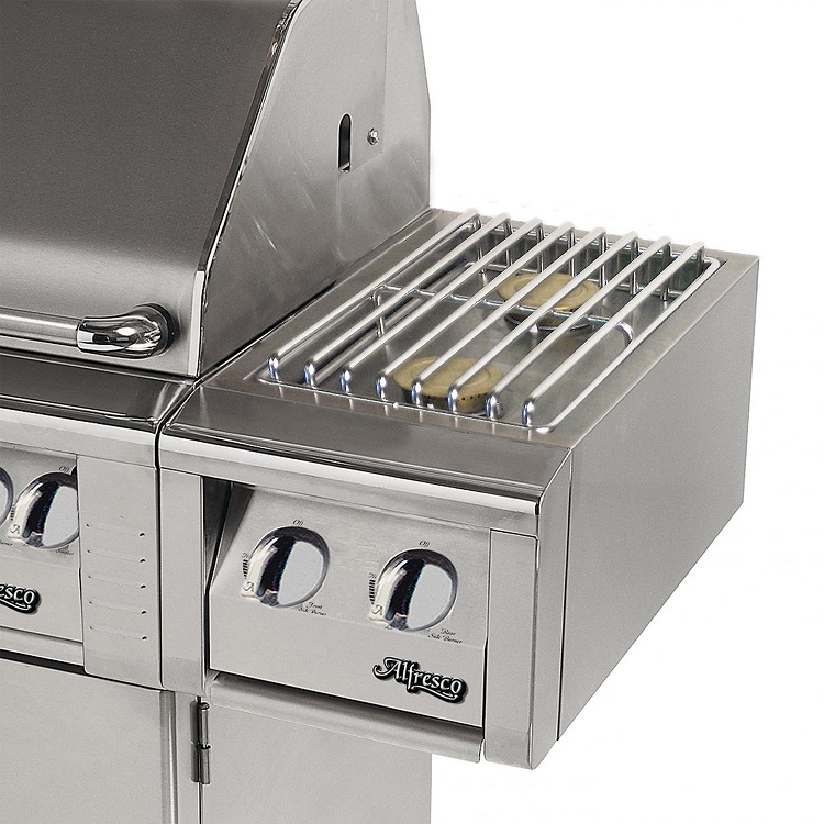 Alfresco 14-inch Propane Dual Side Burner on Cart