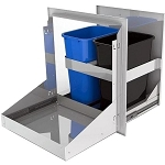Alfresco 26-inch Dual Bin Trash Center Drawer