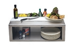 Alfresco Plate and Garnish Rail with Food Pans