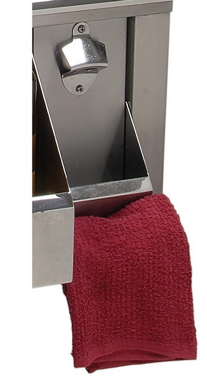 Alfresco Bottle Opener with Catch-Can and Towel Holder for 30-inch Versa Sink