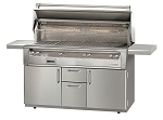 Alfresco LXE Series 56 Inch Standard All Grill on Deluxe Cart - NG