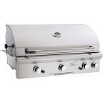 AOG 36 Inch Natural Gas Grill w/ Lights and Rotisserie