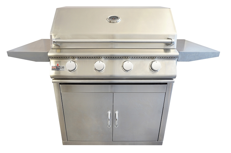 BBQ Island 32 Inch 4 Burner Natural Gas Grill on Cart