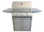 BBQ Island 25 Inch 3 Burner Natural Gas Grill on Cart